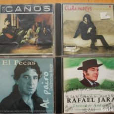 CDs de Música: 4 CD LOS CAÑOS - EL PECAS - RAFAEL JARA- CLARA MONTES. Lote 146106918
