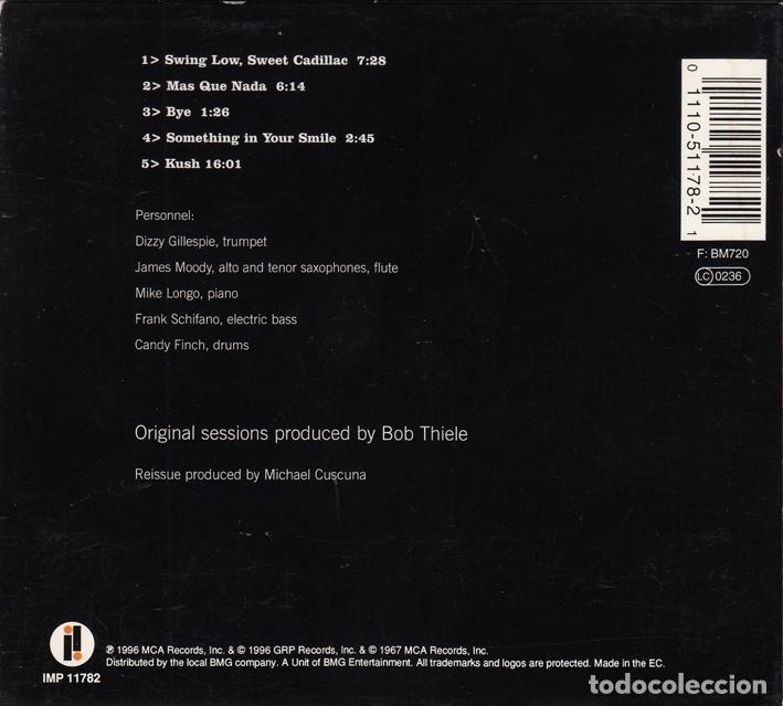 CDs de Música: Dizzy Gillespie. Swing Low Sweet Cadillac. Impulse 1996 - Foto 2 - 146195890
