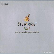 CDs de Música: SIEMPRE ASÍ VAMO A ESCUCHÁ GRANDES ÉXITOS ( 2 CD + 1 DVD). Lote 146205814