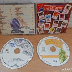 CDs de Música: DOBLE CD LOS MEJORES 28 TEMAS DEL CINE DEL OESTE.IMPECABLE,COMO NUEVO. Lote 146205830