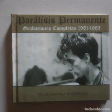 CDs de Música: PARALISIS PERMANENTE GRABACIONES COMPLETAS 1981 - 1983 CD LIBRO. Lote 146252354