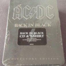 CDs de Música: AC/DC BACK IN BLACK BOX SET LIMITED EDITION METAL TIN BOX CD + T-SHIRT - CANADA 2008 88697387612. Lote 146349094
