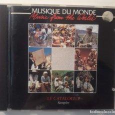 CDs de Música: CD MUSIQUE DU MONDE - LE CATALOGUE SAMPLER. Lote 146394946
