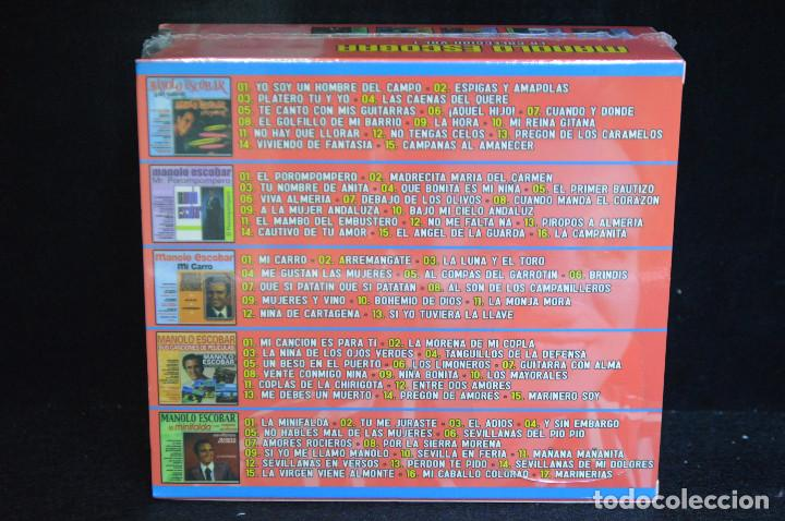 CDs de Música: MANOLO ESCOBAR - LA COLECION VOL.1 - 5 CD - Foto 2 - 146429038