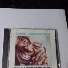 CDs de Música: LOUIS ARMSTRONG. WHAT A WONDERFUL WORLD. EN PERFECTO ESTADO.. Lote 146457802