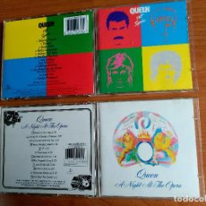 CDs de Música: QUEEN LOTE 2 CDS HOT SPACE / A NIGHT AT THE OPERA - EDICIONES ORIGINALES DIGITAL MASTER SERIES. Lote 146510810