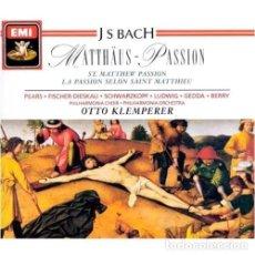 CDs de Música: BACH - LA PASION SEGUN SAN MATEO - KLEMPERER - EMI 3 DISCOS. Lote 146595870