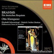 CDs de Música: BRAHMS - EIN DEUTSCHES REQUIEM - KLEMPERER. Lote 146596850