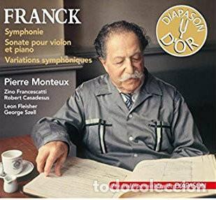 FRANCK - SINFONIA IN RE - PIERRE MONTEUX - GRAMOPHONE - CARATULA CARTON (Música - CD's Clásica, Ópera, Zarzuela y Marchas)