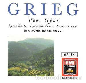 GRIEG - PEER GYNT - BARBIROLLI (Música - CD's Clásica, Ópera, Zarzuela y Marchas)