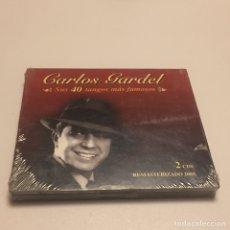 CDs de Música: 2 CE CARLOS GARDEL SUS 40 TANGOS MÁS FAMOSOS (NUEVO SIN ABRIR). Lote 146664461