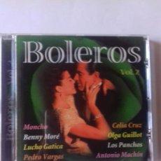 CDs de Música: BOLEROS. VOL.2. OLGA GUILLOT. CELIA CRUZ. BENNY MORE. LOS PANCHOS..... EN PERFECTO ESTADO. . Lote 146717230