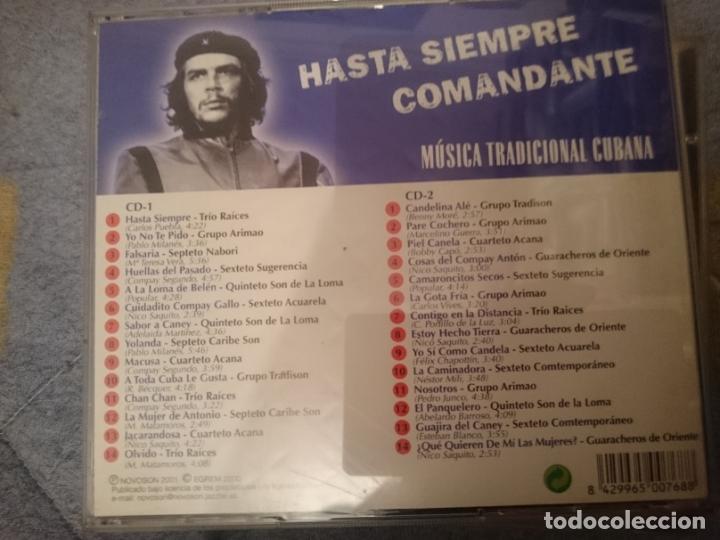CDs de Música: HASTA SIEMPRE -2 CDs -MUSICA TRADICIONAL CUBANA -DEDICADA AL CHE GUEVARA Y REVOLUCIONARIOS - Foto 2 - 146740298