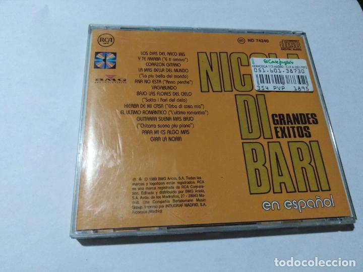 CDs de Música: NICOLA DI BARI EN ESPAÑOL. - Foto 2 - 146807554