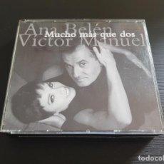 CDs de Música: ANA BELÉN Y VICTOR MANUEL - MUCHO MÁS QUE DOS - DOBLE CD ALBUM - ARIOLA - 1994. Lote 146887858