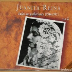 CDs de Música: JUANITA REINA, TODAS SUS GRABACIONES 1944 AL 1947, VOL. 2, CD, EXCELENTE ESTADO. Lote 146911190