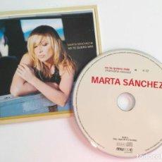 CDs de Música: MARTA SANCHEZ 'NO TE QUIERO MAS' CD SINGLE PROMO 2002. Lote 160592277
