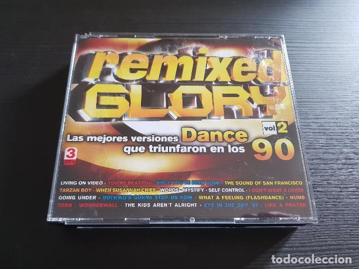 REMIXED GLORY - DANCE 90 - VOLUMEN 2 - TRIPLE CD ALBUM - DIVUCSA - 2006 (Música - CD's Disco y Dance)