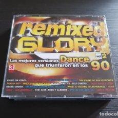 CDs de Música - REMIXED GLORY - DANCE 90 - VOLUMEN 2 - TRIPLE CD ALBUM - DIVUCSA - 2006 - 146926054
