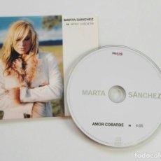 CDs de Música: MARTA SANCHEZ 'AMOR COBARDE' CD SINGLE PROMO 2002. Lote 160592310