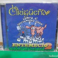 CDs de Música: LA CIRIGUEÑA CONTRA EL CABREAMIENTO GLOBAL A MANDARLOS A MAMAR ENTEMECIO 2 CD ALBUM ASTURIAS PEPETO. Lote 146935722