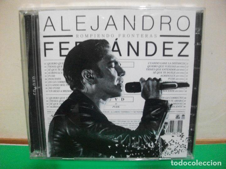 ALEJANDRO FERNANDEZ ROMPIENDO FRONTERAS CD + DVD NUEVO¡¡ (Música - CD's Latina)