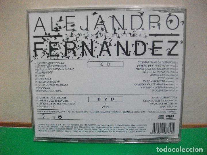 CDs de Música: ALEJANDRO FERNANDEZ ROMPIENDO FRONTERAS CD + DVD NUEVO¡¡ PEPETO - Foto 2 - 146940958
