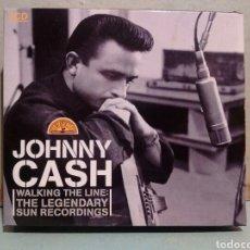 CDs de Música: CD TRIPLE. JOHNNY CASH.WALKING THE LINE.THE LEGENDARY SUN RECORDINGS. Lote 146963169