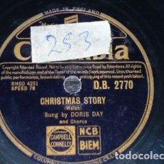 CDs de Música: DISCO 78 RPM - COLUMBIA - DORIS DAY - CHRISTMAS STORY - SILVER BELLS - PIZARRA. Lote 147037942