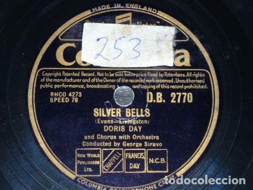 CDs de Música: DISCO 78 RPM - COLUMBIA - DORIS DAY - CHRISTMAS STORY - SILVER BELLS - PIZARRA - Foto 2 - 147037942