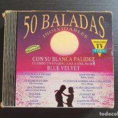 CD di Musica: 50 BALADAS INOLVIDABLES - TRIPLE CD ALBUM - DIVUCSA - 1992. Lote 147042562