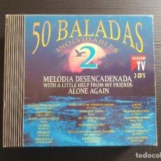 CD di Musica: 50 BALADAS INOLVIDABLES 2 - TRIPLE CD ALBUM - DIVUCSA - 1992. Lote 147042754