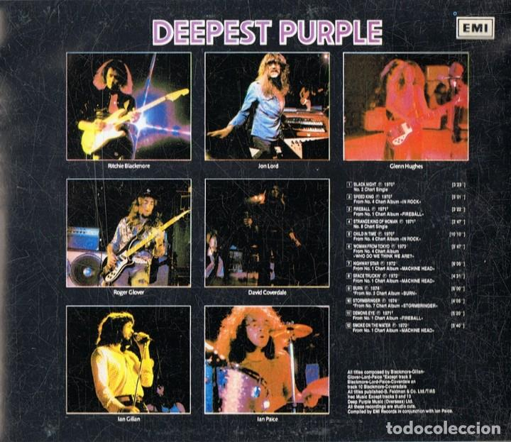 CDs de Música: DEEPEST PURPLE ¨THE VERY BEST OF DEEP PURPLE¨ (CD) - Foto 2 - 147069894