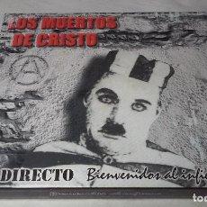 CDs de Música: LOS MUERTOS DE CRISTO EN DIRECTO - BIENVENIDOS AL INFIERNO - CAJA CARTON CON DOBLE CD ROCK + LIBRETO. Lote 147091878