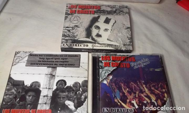 CDs de Música: LOS MUERTOS DE CRISTO EN DIRECTO - BIENVENIDOS AL INFIERNO - CAJA CARTON CON DOBLE CD ROCK + LIBRETO - Foto 2 - 147091878