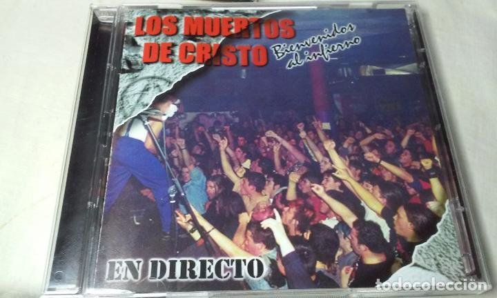 CDs de Música: LOS MUERTOS DE CRISTO EN DIRECTO - BIENVENIDOS AL INFIERNO - CAJA CARTON CON DOBLE CD ROCK + LIBRETO - Foto 5 - 147091878