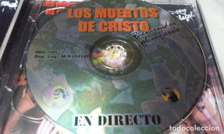 CDs de Música: LOS MUERTOS DE CRISTO EN DIRECTO - BIENVENIDOS AL INFIERNO - CAJA CARTON CON DOBLE CD ROCK + LIBRETO - Foto 7 - 147091878