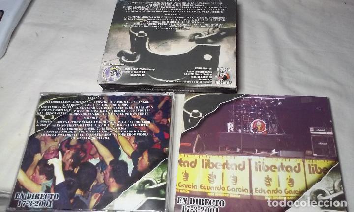 CDs de Música: LOS MUERTOS DE CRISTO EN DIRECTO - BIENVENIDOS AL INFIERNO - CAJA CARTON CON DOBLE CD ROCK + LIBRETO - Foto 11 - 147091878