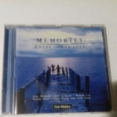 CDs de Música: MEMORIES. WHERE IS THE LOVE. EN PERFECTO ESTADO.. Lote 147110718