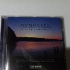CDs de Música: MEMORIES. TO LOVE SOMEBODY. EN PERFECTO ESTADO.. Lote 147110738