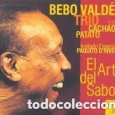 CDs de Música: EL ARTE DEL SABOR. CD. BEBO VALDÉS. TRÍO CON CACHAO Y PATATO. INVITADO ESPECIAL PAQUITO D'RIVERA. . Lote 147170642