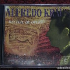 CDs de Música: ALFREDO KRAUS (RECITAL DE OPERA - ORQUESTA SINFONICA DE MADRID) CD 1991 * DIFICIL EN CD. Lote 147193118