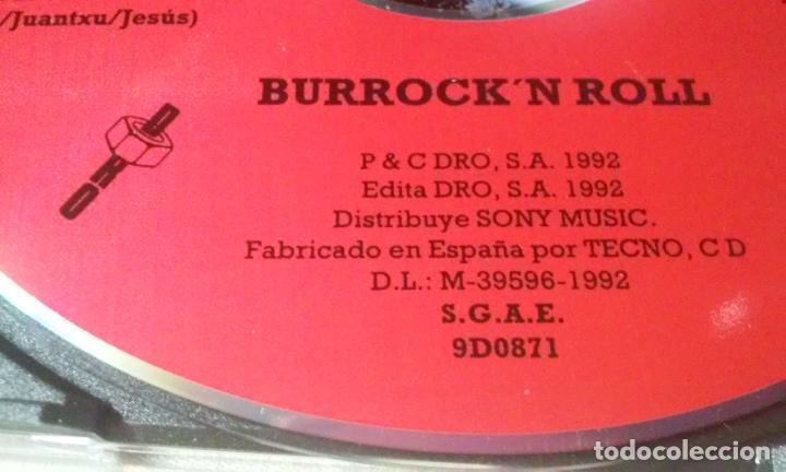 CDs de Música: PLATERO Y TU -BURROCKN ROLL- CD ROCK VASCO AÑOS 90 - Foto 3 - 147240546