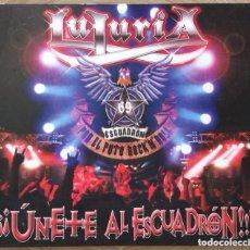 CDs de Música: LUJURIA UNETE AL ESCUADRON DOBLE CD. Lote 147305766