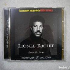 CDs de Música: LIONEL RICHIE - BACK TO FRONT - CD 2001 . Lote 147490746