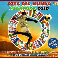 CDs de Música: COPA DEL MUNDO SUDAFRICA 2010. CON LOS HIMNOS NACIONALES. FUTBOL. DOBLE CD 2 D. PRECINTADADO. Lote 147513946
