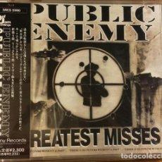 CDs de Música: CD PROMO JAPON PUBLIC ENEMY – GREATEST MISSES RARO. Lote 147564746