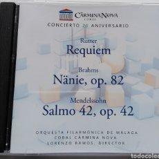 CDs de Música: XX ANIVERSARIO CORAL CARMINA NOVA. ORQUESTA FILARMÓNICA DE MÁLAGA. LORENZO RAMOS.. Lote 147577958