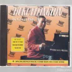 CDs de Música: DUKE ELLINGTON - 16 GREAT HITS (CD 1990, TAKE 16 GREAT NAMES OF JAZZ CD 8007). Lote 147582194