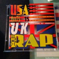 CDs de Música: VARIOUS – USA MEETS UK RAP. Lote 147626686